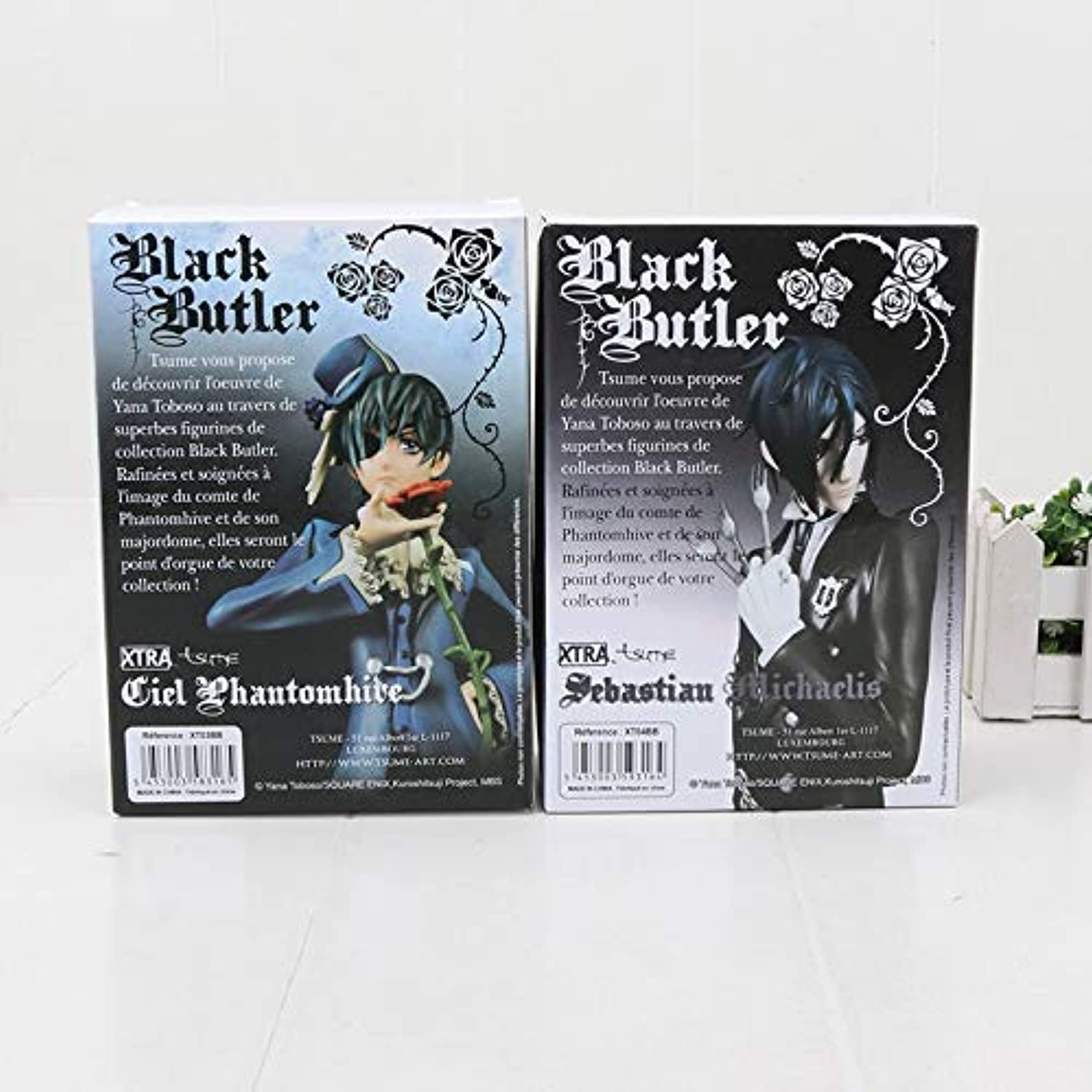Allegro Huyer 2pcs lot Black Butler Figure Toys Sebastian Ciel Xtra Anime Model Dolls Figurine Collection (with Box)