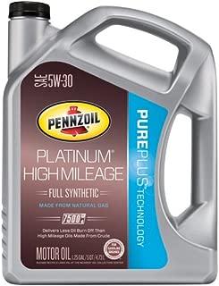 Pennzoil 550042726 Platinum SN 5W-30 Motor Oil (Lubricant), 5 quart