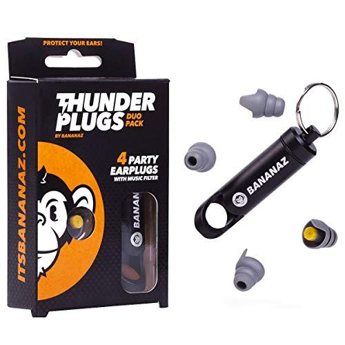 Bananaz Thunderplugs TP-DUO Pack Ear Plugs Gehoorbescherming Oordopjes voor muzikanten
