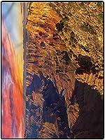 カーペット 可愛い 大きい フローリングマット 140*200 アウトドア用キャニオンラグキッチンキッズ用ラグベビーガールズベッドルームナーシングホームインテリア夕暮れの牧歌的な川 オールシーズン 防臭 居間