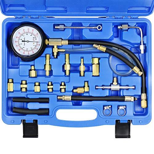 JIFETOR Fuel Injection Pump Pressure Test Gauge Set, Automotive Gas Gasoline...