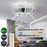Ventilateur De Plafond Silencieux,LED Ventilateur De Plafond Avec Telecommande...