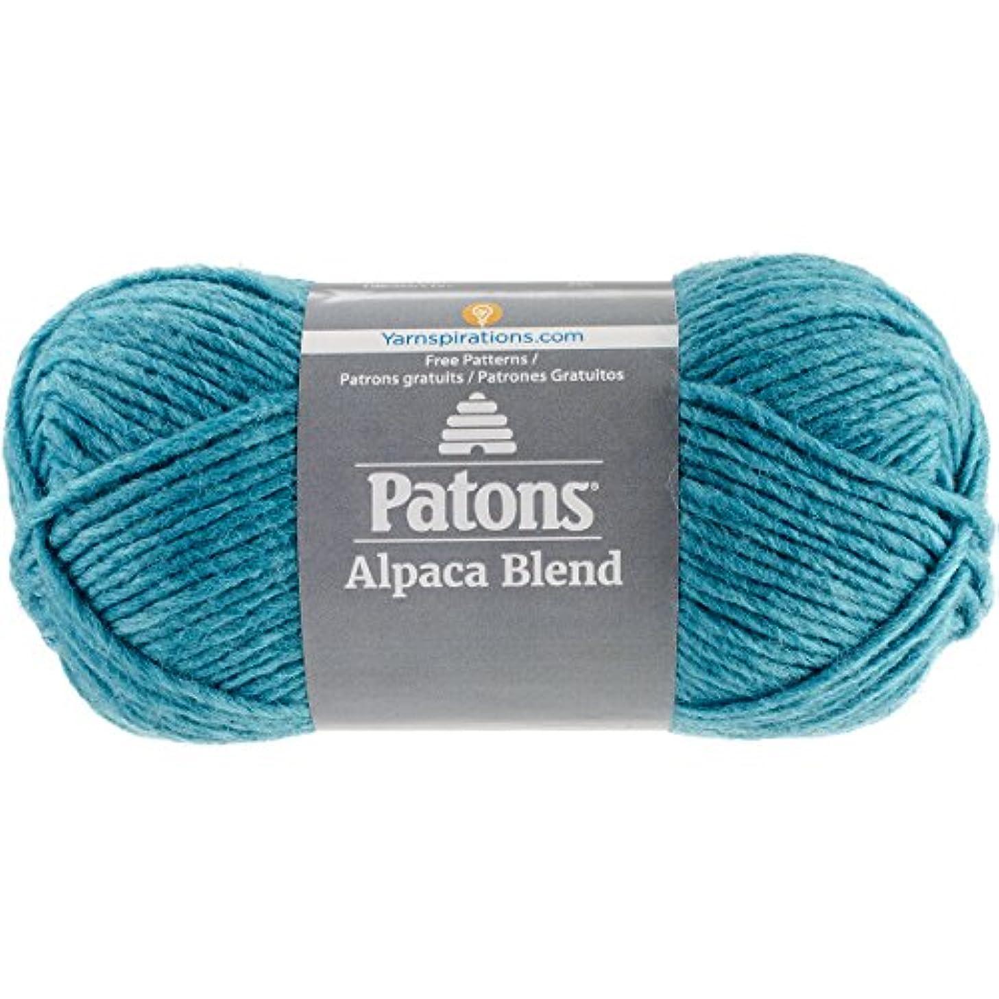 Patons  Alpaca Blend Yarn - (5) Bulky Gauge  - 3.5oz -  Aquamarine -  Machine Washable  For Crochet, Knitting & Crafting