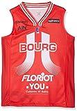 JL Bourg Maillot Officiel Extérieur 2018-2019 Basketball Mixte Enfant, Rouge, FR : XXS (Taille Fabricant : 12 Ans)