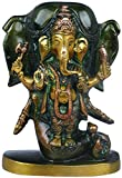 Exotic India Lord Ganesha Standing in The Backdrop of Elephant Head - Bronze Statue