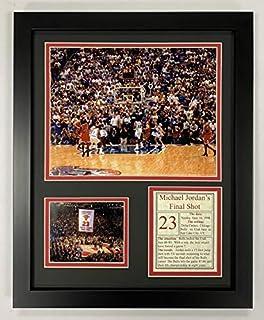 Legends Never Die Michael Jordan- Final Shot - 1998 NBA Finals Collectible | Framed Photo Collage Decor - 12