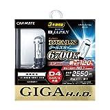 カーメイト 車用 HID ヘッドライト GIGA デュアルクス クールスカイ D4R/D4S共通 6700K 2550lm 車検対応 3年間保証 GXB967
