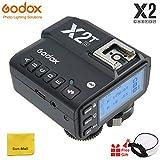 【Godox正規品】Godox X2T TTLワイヤレスフラッシュトリガー、ブルートゥース接続、1 / 8000s HSS、TCM機能、5つの独立したグループボタン、再配置されたコントロールホイール、新しいホットシューロック、新しいAFアシストライト (Godox X2T-S Flash Trigger)