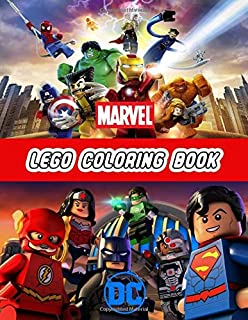 Lego Coloring Book Marvel Dc: Great Coloring Pages For Kids   Ages 3-8