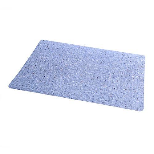 Milopon Set de table rectangulaire en opP pour Home Hotel 44 x 30 cm, bleu, 44cm*30cm