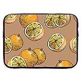 13/15 inch Citrus Seamless Pattern mit Orangen Laptop-Ärmeltasche Tragbare...