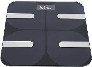 UYZ Báscula de Grasa Corporal de 180 kg, 30 x 30 x 2,5 cm Báscula de Grasa Corporal Inteligente Negra para el hogar Báscula electrónica Digital LCD para el hogar