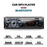Autoradio Bluetooth, CompraFun Manos Libres Radio Estéreo de Coche, Apoyo de Reproductor MP3, Llamadas Manos Libres, Función de Radio, y de Archivo