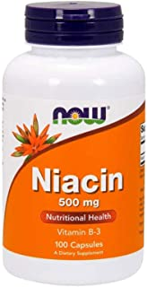 NOW Supplements, Niacin (Vitamin B-3) 500 mg, Essential B-Group Vitamin*, Nutritional Health, 100 Capsules