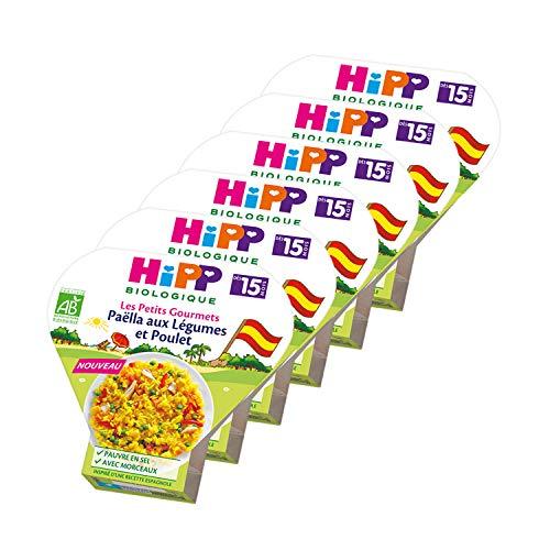 Hipp Biologique Paëlla aux Légumes/Poulet 6 Assiettes de 250 g