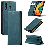 yanzi Funda para Samsung Galaxy A40S/M30 Funda Carcasa Silicone Case Samsung Galaxy A40S/M30 Funda Protectora Azul móvil Cover Libro Caso Cubierta Magnética Billetera Cuero PU A40S/M30 Carcasa