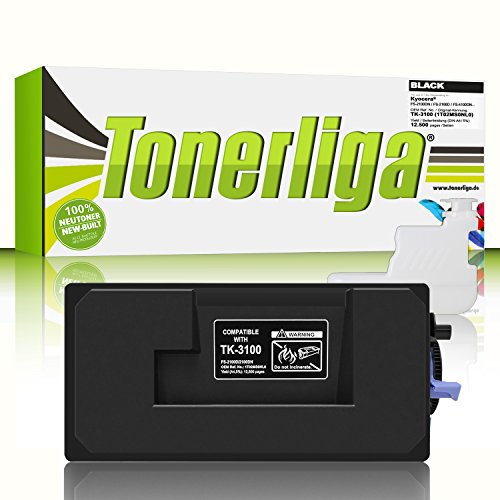 TK-3100 Premium Toner f. Kyocera FS-2100dn FS-2100d FS-4100dn FS-4200dn ECOSYS M3040dn M3540dn | Kompatibel | Ideal f. Ihre gestochen scharfen Ausdrucke
