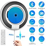 CD Player Portable with Bluetooth Built-in HiFi Speakers and OLED Display, Desk/ Wall Mountable CD Music...