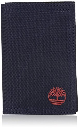 Timberland Men's Trifold Nylon Wallet, Navy, One Size