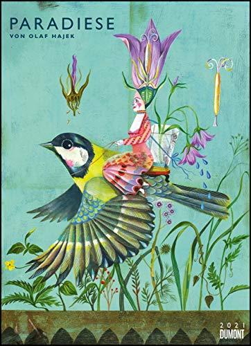 Olaf Hajek: Paradiese 2021 – DUMONT Kunst-Kalender – Poster-Format 49,5 x 68,5 cm