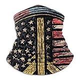WH-CLA Calentador De Cuello Pasamontañas Signo De La Paz De La Bandera Americana Cuello Bufanda Multifuncional Cuello Pañuelo Elegante Sombreros Lavable Bufanda para Partido Caza