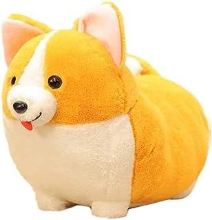 BOIPEEI Auspicious Beginning Plush Throw Pillow Cute Corgi Akita Stuffed Animal Soft Plush Doll Dog Kawaii Plush Toy 20Cm