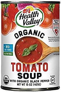 Health Valley Organic No Salt Added Soup, Tomato, 15 Ounce