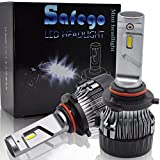 Safego Bombilla 9005 LED Coche, 2x 72W 8000LM 9005 HB3 LED Faros Delanteros Bombillas, Faros Reemplazo de Halógena y Kit Xenón, Lámpara Luz 6500K Blanca 12V-24V, Garantía de 1 años