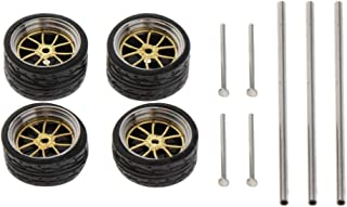 oshhni 1:64 Scale 11mm Wheel Rubber Tires for Matchbox Cars Vehicles Parts - B2