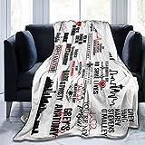 Greys-Anatomy Throw Blanket Ultra Soft Warm Fuzzy Fleece Blanket for Couch Bed Sofa, Lightweight Plush Fluffy Blankets Bedding for All Season 80'X60'