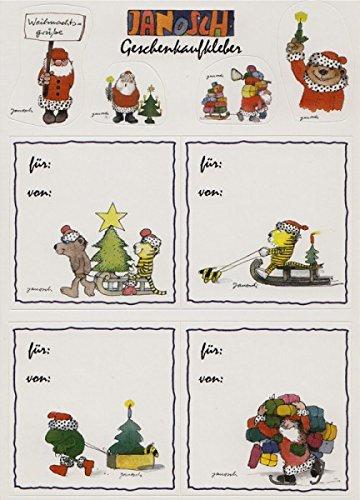 Janosch Sticker Postkarte Geschenkaufkleber Für und Von