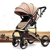 """Kinderwagen """"California"""", 3 in 1 Kombikinderwagen Megaset 8 teilig inkl. Babyschale, Sportwagen, Babywanne und Zubehör, zertifiziert nach der Sicherheitsnorm EN1888, Beige"""