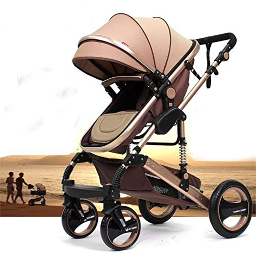 """Kinderwagen """"California"""", 3 in 1 Kombikinderwagen Megaset 8 teilig inkl. Babyschale, Sportwagen, Babywanne und Zubehör, zertifiziert nach der Sicherheitsnorm EN1888, Buggy, Beige"""