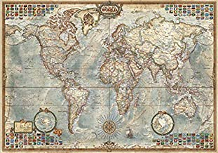 LGXINGLIyidian Rompecabezas para Adultos 1000 Piezas Mapa del Mundo Antiguo 3D Modern Art Gift DIY Wood Jigsaw Puzzle Toy