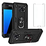 Phone Case for Samsung Galaxy S7 with Tempered Glass Screen