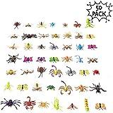 50 Figuras de Insectos Bichos de Plstico Juguetes para Nios| No Txico, Formas y Tamaos Realistas| Mariposa Araas Hormigas Orugas Liblula, etc| Educativo Regalo Fiesta Cumpleaos Halloween.