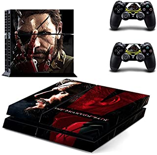 MightySticker® PS4 Designer Skin Game Console + 2 Controller Decal Vinyl Protective Covers Stickers f Sony PlayStation 4 - Metal Gear Solid V The Phantom Pain 5 Scarface Blackbeard Eye Patch Pirate