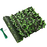 Lovelydecor Artificial Privacy Fence Screen, Faux Ivy Leaf Privacy Screen Artificial Hedge