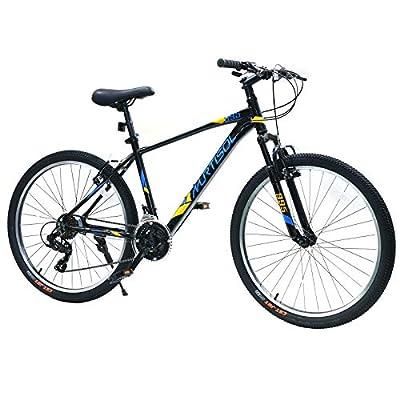 Murtisol Mountain Bike 26 -in Wheels 21 Speed Double V-Brake Aluminum Frame Black
