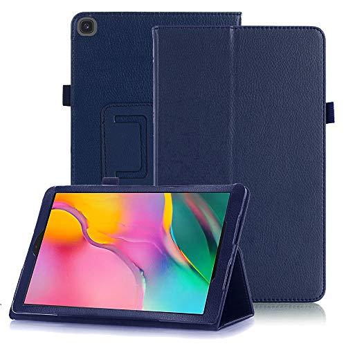FAN SONG Custodia per Galaxy Tab A7 10.4 Pollici 2020 - Ultra Sottile Leggero Magnetico PU in Pelle Smart Cover con Funziona Auto Sveglia Sonno per Samsung Galaxy Tab A7 SM-T500 T505 T507 Tablet, Navy