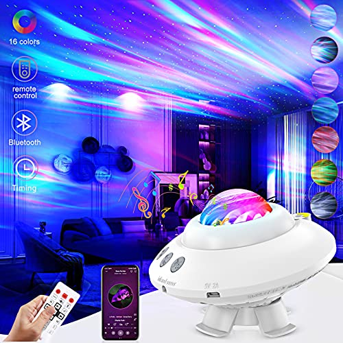 Star Projector Galaxy Light Projector for Bedroom Adult Aurora Light Projector Bluetooth Music Speaker Northern Lights Star Projector Night Light with Remote Control for Baby Kids Party Birthday Gift
