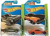Hot Wheels 1965 Mustang 2+2 Fastback & 1969 Ford Mustang Boss 302 2-Car Bundle Set