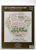 """Imaginating Counted Cross Stitch Kit 11""""X12""""-Let's Appreciate My Vet (14 Count)"""
