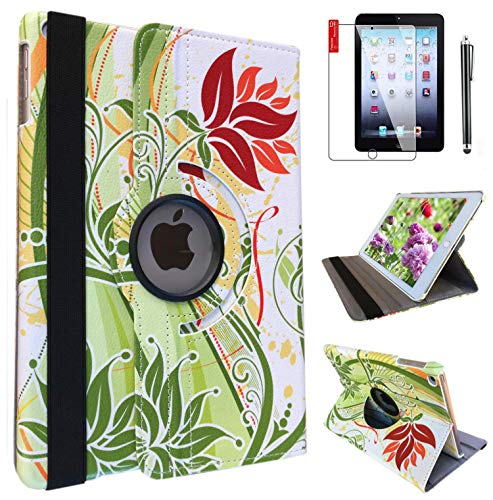 iPad 6th/ 5th Generation Case IPad Model A1822 A1823 Case for iPad 9.7 Inch 2017/2018 Smart Stand Case Support Wake/Sleep Function Orange Flowers -  Trendmart, B074D59BQQ