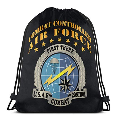 Usaf Combat Controller Kordelzug Rucksack Tasche Sport Gym Sack für Damen Herren Kinder 36 x 43 cm
