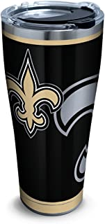 Tervis NFL New Orleans Saints Rush Stainless Steel Tumbler With Lid, 30 oz, Silver