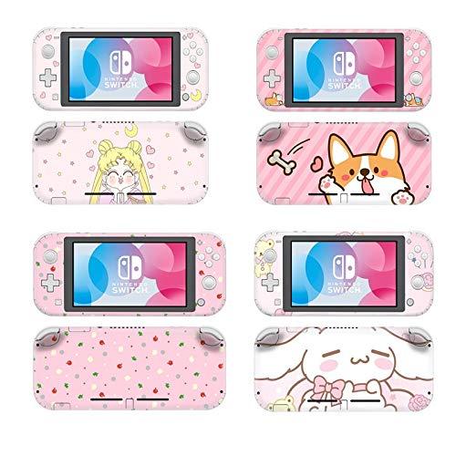 Niedliche Katze Hund Sailor Moon Schutz Bildschirm Hautschutz Aufkleber für Nintendo Switch Lite NS Mini Konsole Dekoration Aufkleber Fall