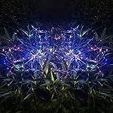Solarleuchten für Außen Garten Deko, 2 Stück Wasserdicht Solarlampen für Außen Garten, Solar LED Feuerwerk Licht mit 2 Beleuchtungsmodi für Gärten, Wege, Hof, Fest Deko (Mehrfarbig)