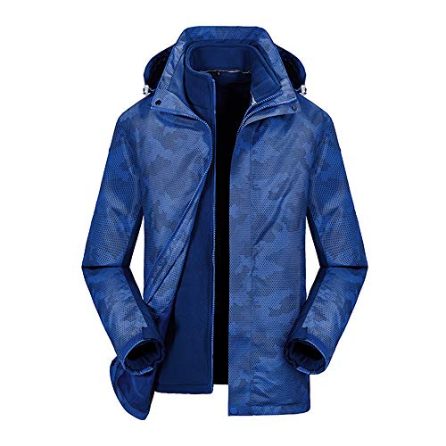 YSZDM Outdoor fleece jassen camouflage pak modellen waterdicht tweedelig pak mannen en vrouwen winddicht warm koud-proof bergpak