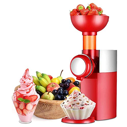 WUFENG Kleine Kreativität Eismaschine, tragbare automatische Gefrorene Frucht Dessert Maschine, Kind DIY hausgemachte Eisturbine, Joghurt, für Bananen, Ananas, Beeren